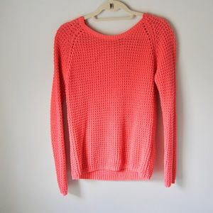 ONLY waffle knit sweater in pink small